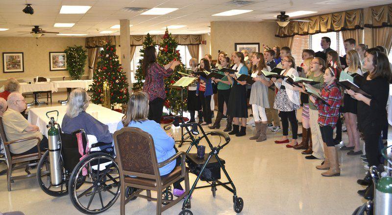 Volunteers Bring Christmas Cheer To Senior Living Communities