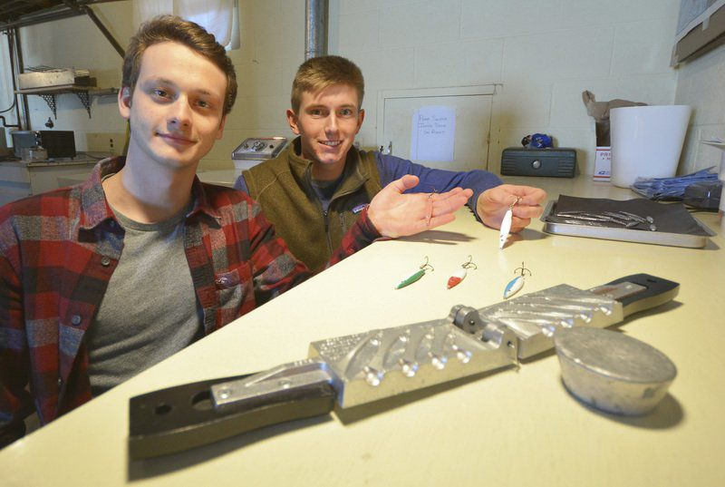 Students create fishing lure company
