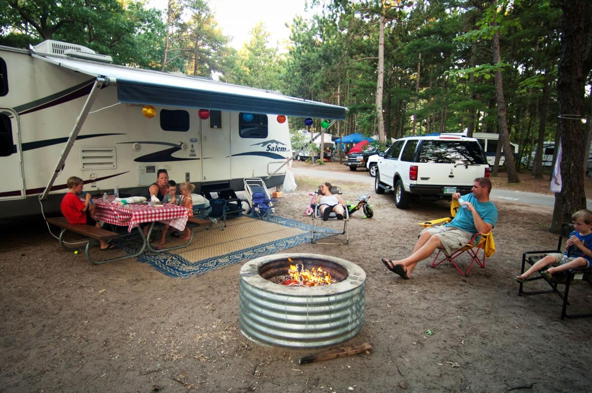 Camping at Traverse City State Park (copy)