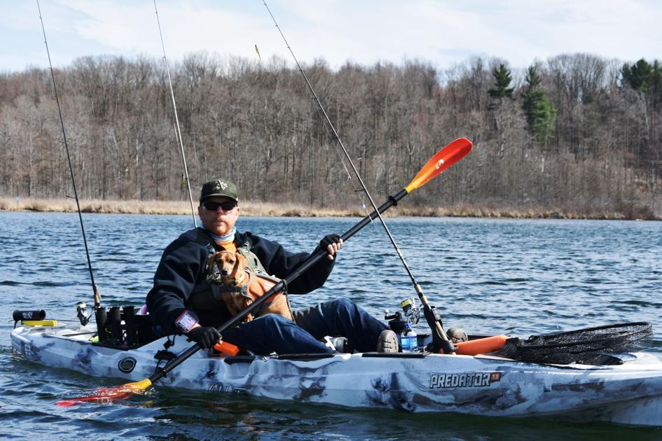 Bob Gwizdz Trying Out The Non Motorized Pedal Kayaks Go Record Eagle Com