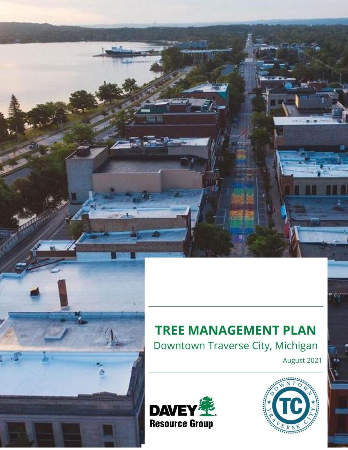 2021 Tree Management Plan for Downtown Traverse City.