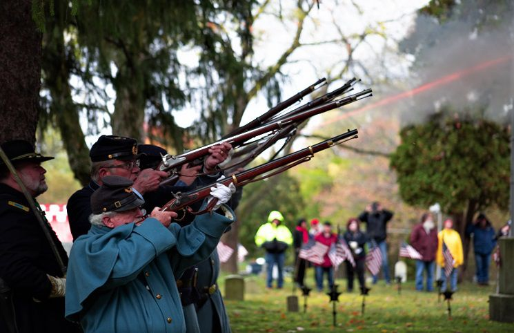 Sons of Union Veterans of the Civil War rifle team