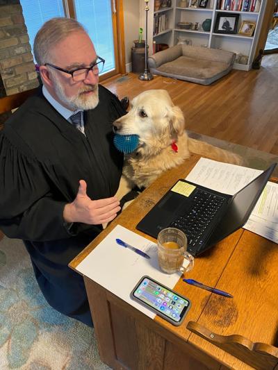 Elsenheimer and dog
