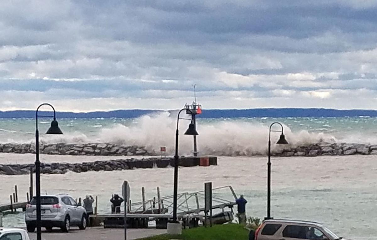 Leland Harbor waves
