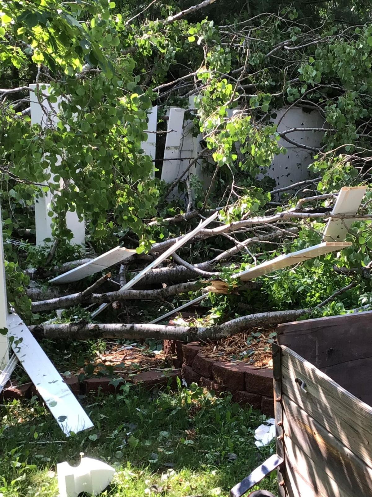 NWS tornado damage Roscommon vertical