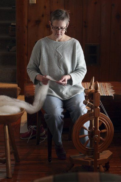 Lake Ann fiber artist knows her wool, creates Petoskey stone afghans