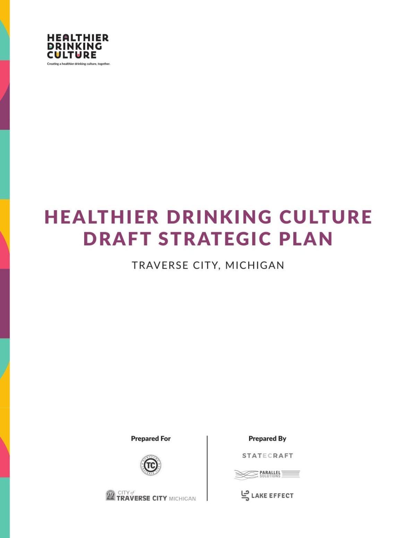 Healthier Drinking Culture Final Draft Strategic Plan