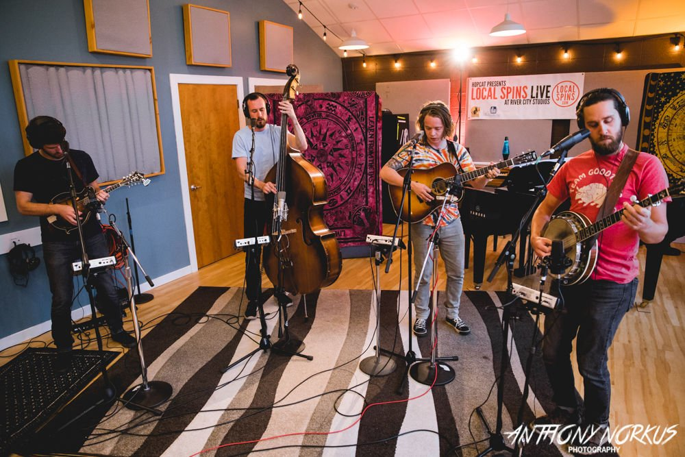 Billy Strings and his band for Local Spins Live at River City Studios Photo by Anthony Norkus of Local Spins.jpg