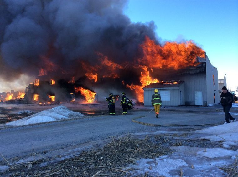 Poultry barn fire