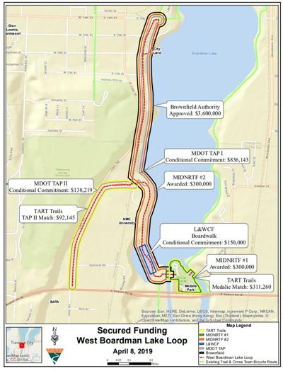 boardman lake trail funding