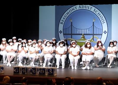 Vocational nursing graduates share in-person ceremony with their families