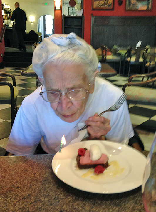 Selina Smith turns 95