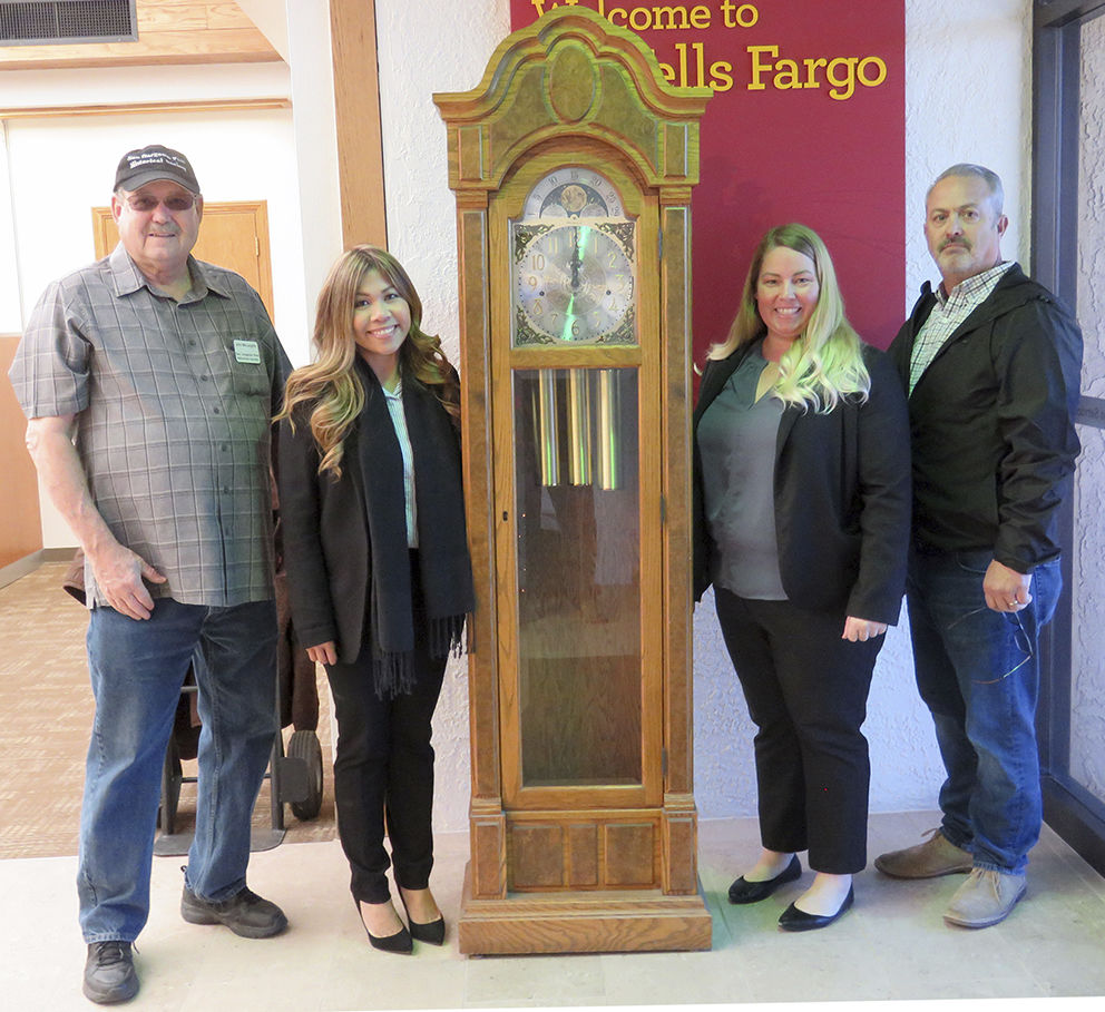 Beaumont Wells Fargo donated an antique clock to the San Gorgonio Historical Society