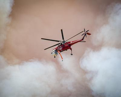 Apple fire helicopter