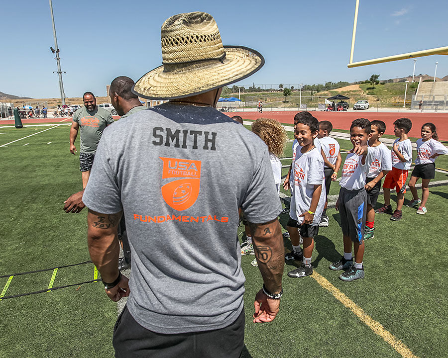 Banning football benefitting from Smith's clinic