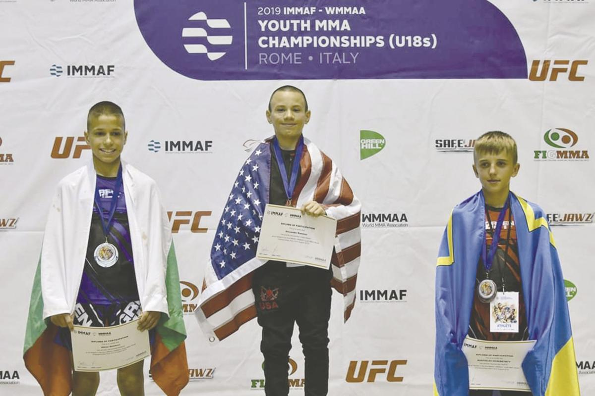 Rising fighter wins gold in international martial arts