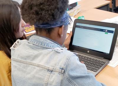 Students utilize an array of educational websites to improve their math skills whe learning.