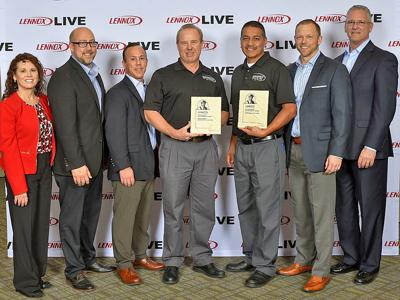 Burgeson's Heating & Air Conditioning, Inc. receives excellence awards from Lennox® Industries