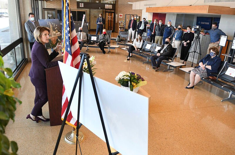 Capito tours Raleigh airport