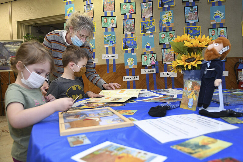 Early impressions -- Pre-K 4 students at St. Francis de Sales learn art from the masters
