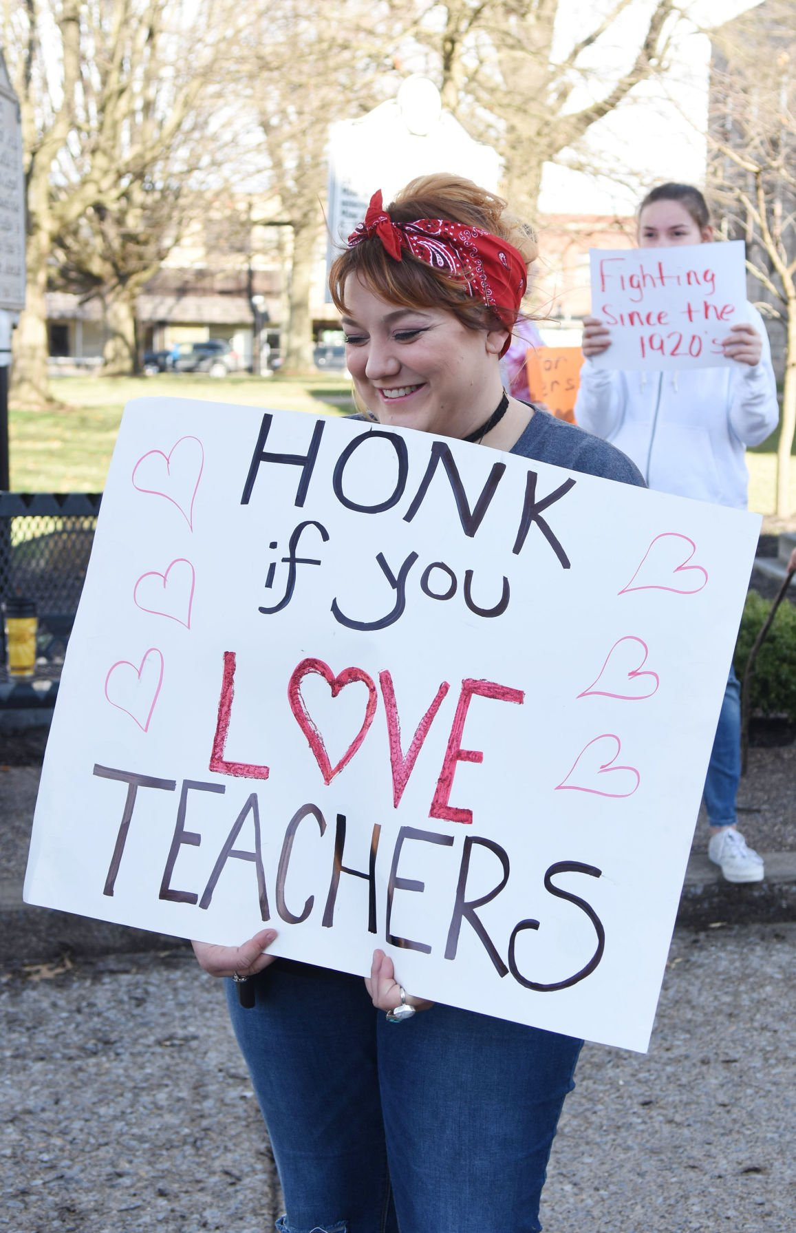 Teachers rally at the Capitol as part of statewide walkout