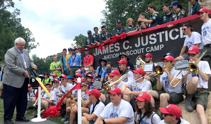 Scouts dedicate James C. Justice National Scout Camp