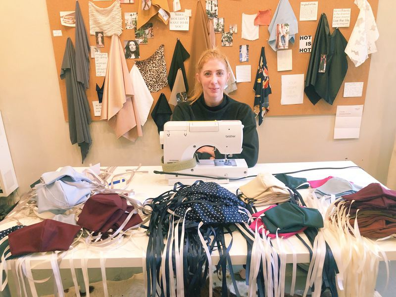 Fashion designer starts mask-making project; workers keep jobs and help health care sector