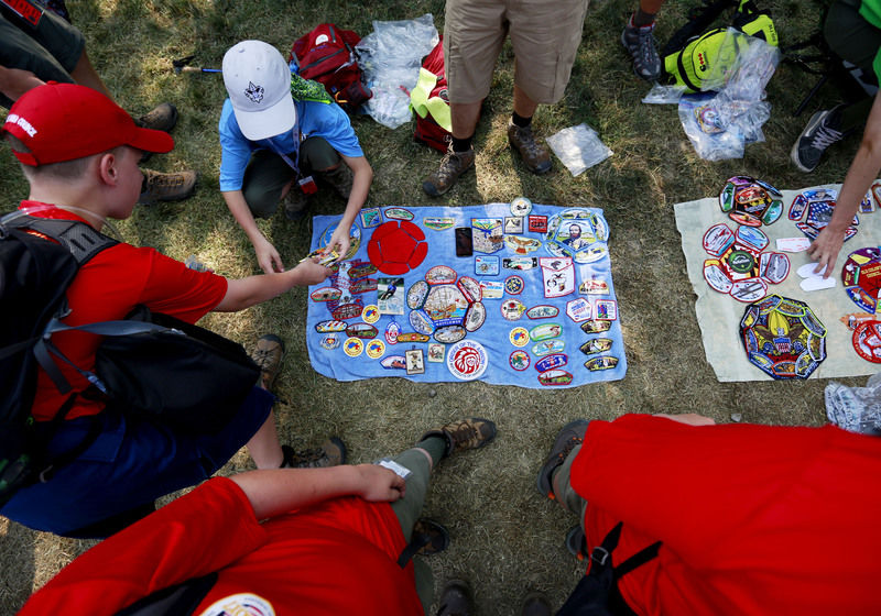Boy Scouts participate in high-adventure activities at National Jamboree