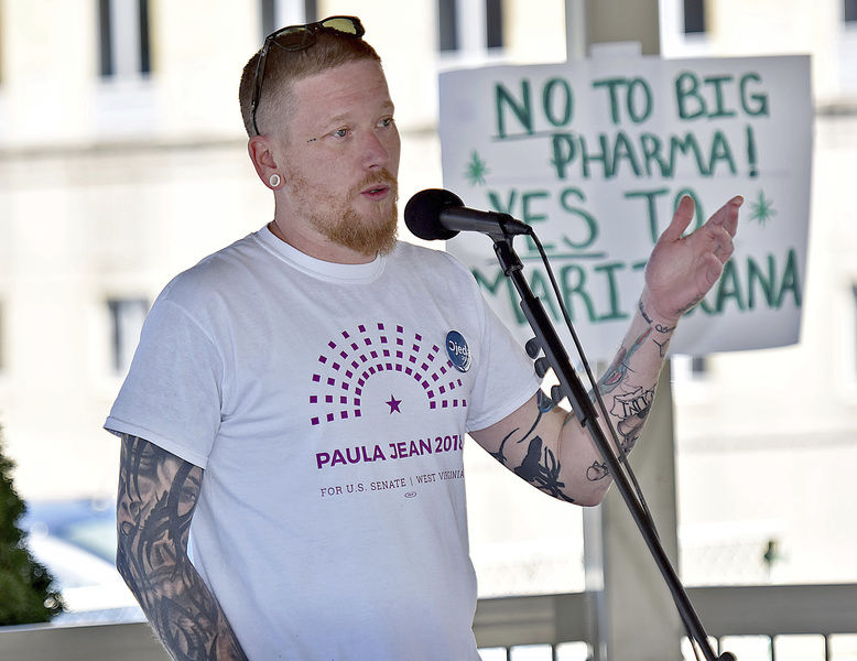 Individuals gather in Beckley for pro-cannabis rally