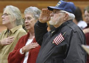The flag takes center stage at Fayetteville veterans event