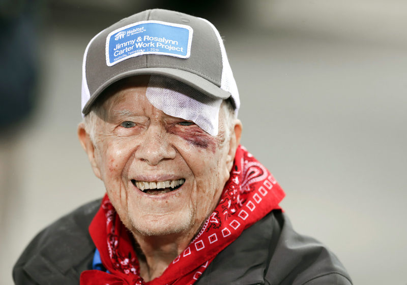 Jimmy Carter hospitalized after fall at Georgia home ...