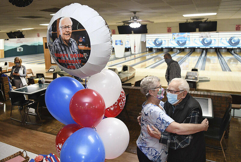 That's how he rolls -- A surprise birthday party for 96-year-old bowler