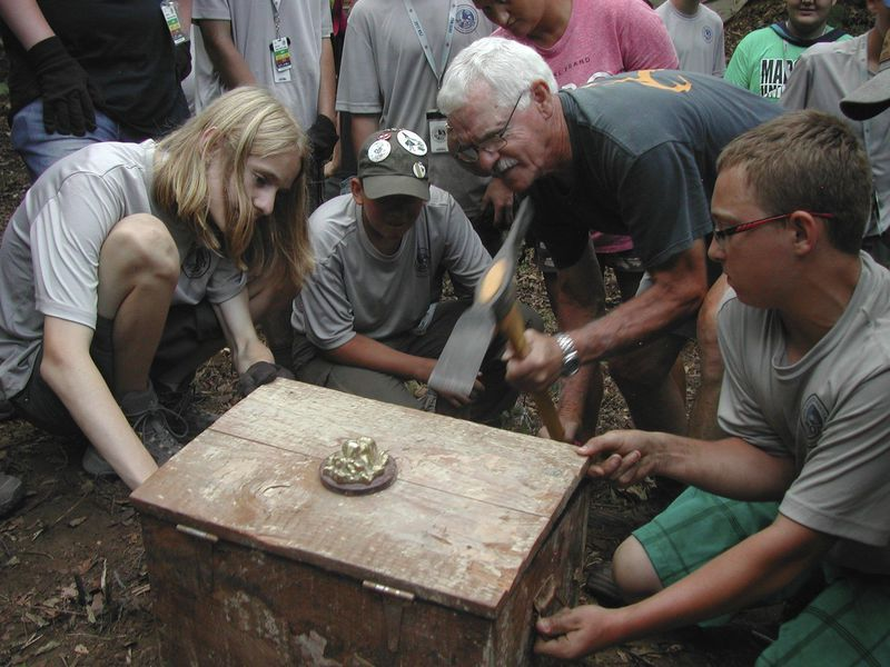 Boy Scouts unearth 'buried treasure' in Wyoming County