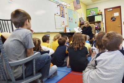 First Lady Cathy Justice celebrates Family Read Week with Raleigh County students