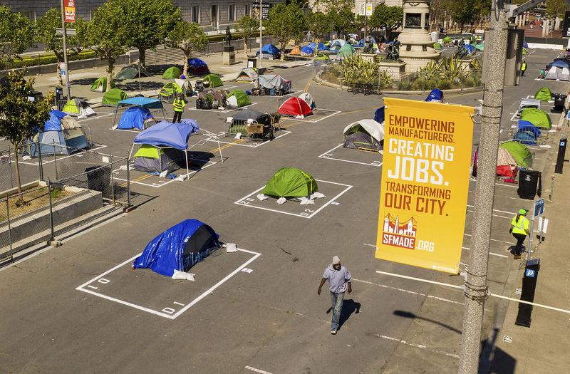 San Francisco sanctions once-shunned homeless encampments