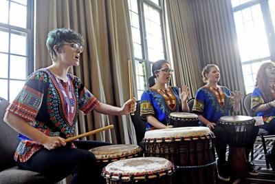 Greenbrier Academy for Girls drummers impress Beckley Rotary