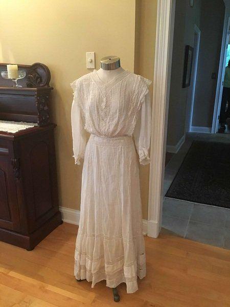 Wedding dresses on display at Hendricks County Museum