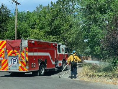 West side Pocatello brush fire