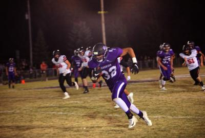 North Fremont takes the ball upfield after catching a pass from Luke Hill.
