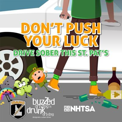 Don't push your luck; Drive sober this St. Patrick's Day