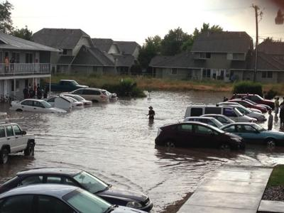 Rexburg Rapids Sudden storm dumps massive amount of rain ...