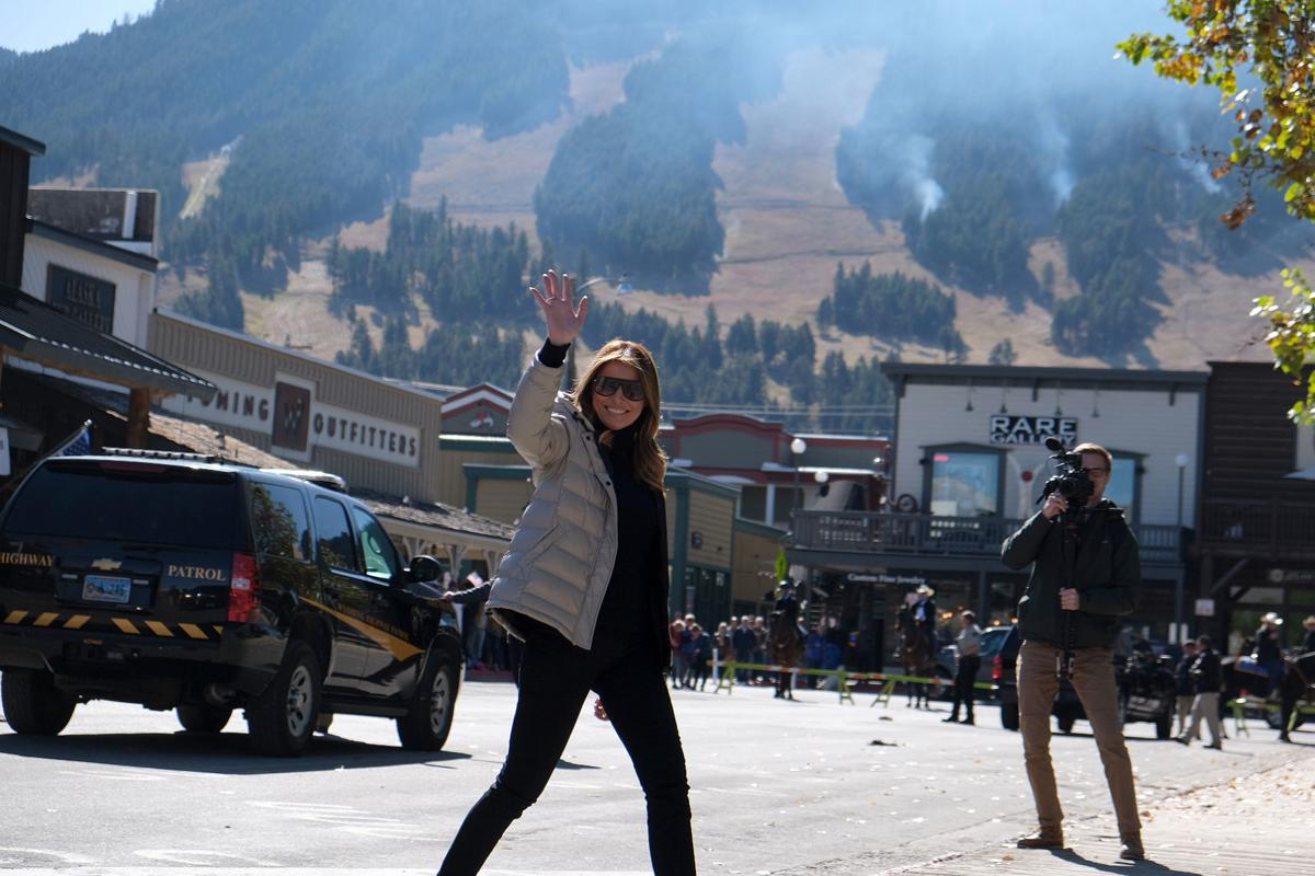 First Lady Melania Trump visits Jackson Hole, Wyoming