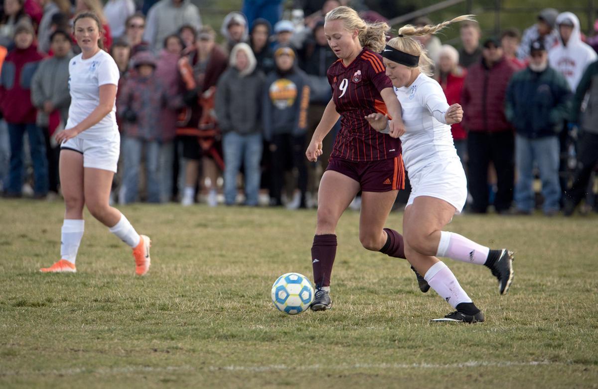 Teton's Kate Bleffert working against Sugar on Tuesday afternoon.