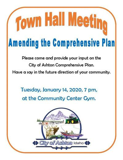 Ashton Town Hall meeting scheduled at 7 p.m. at Community Center Gym tonight