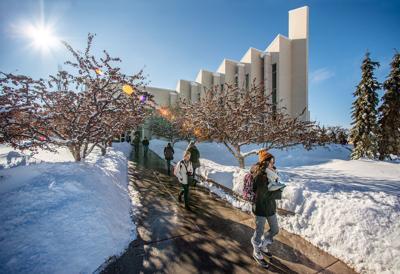 Sunny Snowy Campus - Jan. 2020