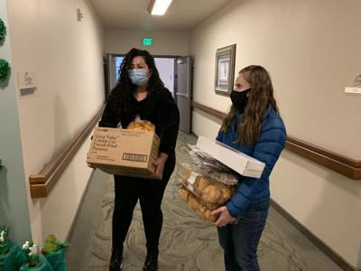 BYU-Idaho students help RMFP deliver food to elderly residents
