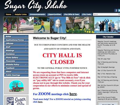 Sugar City Council to broadcast meeting via Zoom for residents to view from home