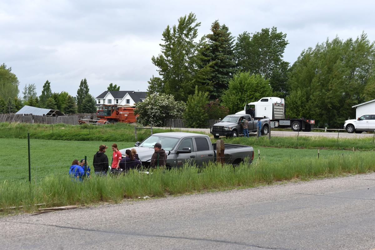Crash at North Salem Highway and 3500 North Friday afternoon