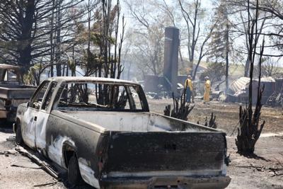 Cold Creek Fire burned pickup trucks (wildfire roundup)