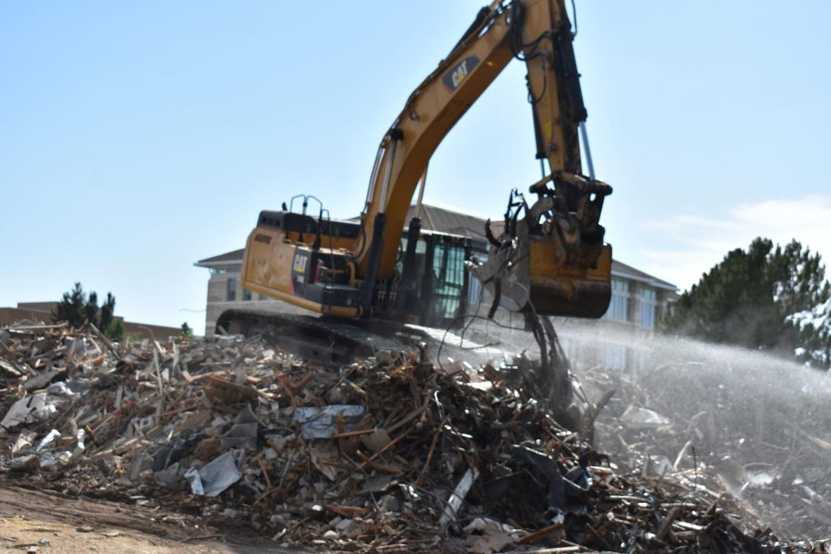 Demolition continues on BYU-Idaho Kirkham Building